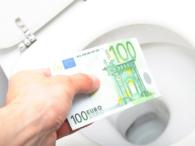 Geld door de wc spoelen