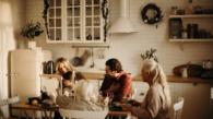 Feestdagen tafel gezin